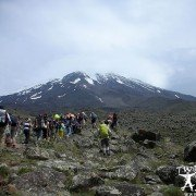A Mountaineers group near the Mount Ararat main camp 3200m