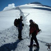 Ararat climbing inönü plateau. View of Summit.