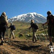 Mountaineers Climbing Mount Ararat near the Ararat highlands.