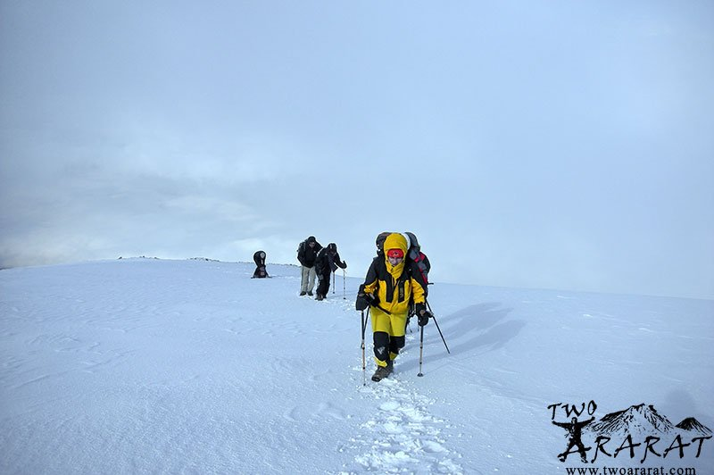 Mount Ararat Winter Climb is a group of climbers trying to reach the summit.