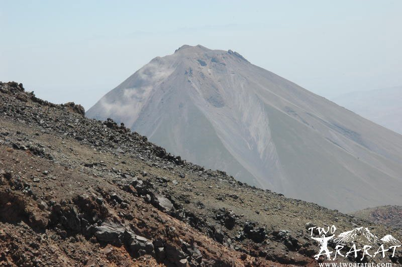 View of Little Ararat from the second camp area of Mount Ararat.
